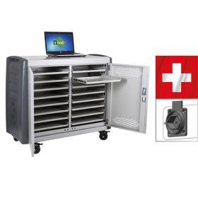 Laptopladewagen Safecart 16 Pro+ in der schweizer Ausführung